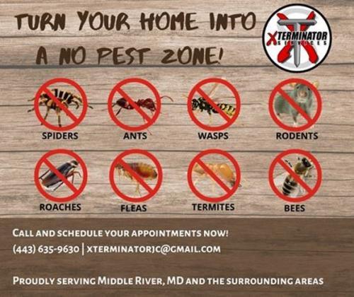 Xterminator Services AD no pest zone